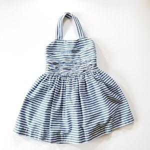RALPH LAUREN GIRLS BLUE STRIPED DRESS 4T